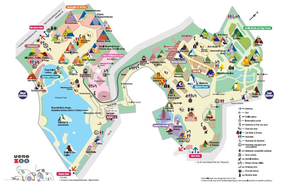 Detail Ueno Zoo Tokyo Location Map – Tourist Attractions Map In Tokyo