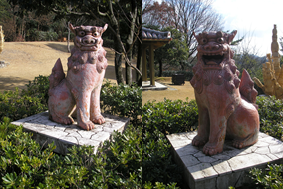 Shisa in Little World, Inuyama