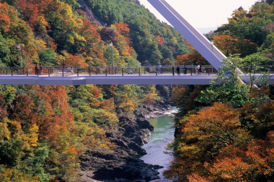 Autumnal Foliage at Takatsudo Gorge