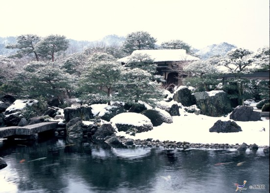 Adachi Museum of Art in winter