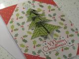 Origami inspired homemade Christmas cards