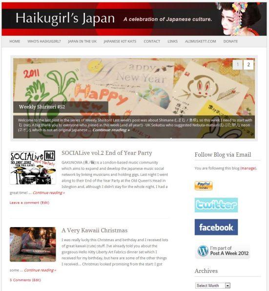 Haikugirl's Japan