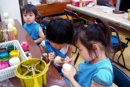 Paint your own Kokeshi doll