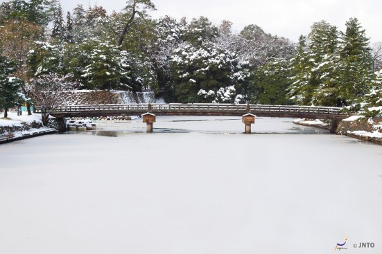 Uga-bashi, Matsue Castle in Winter