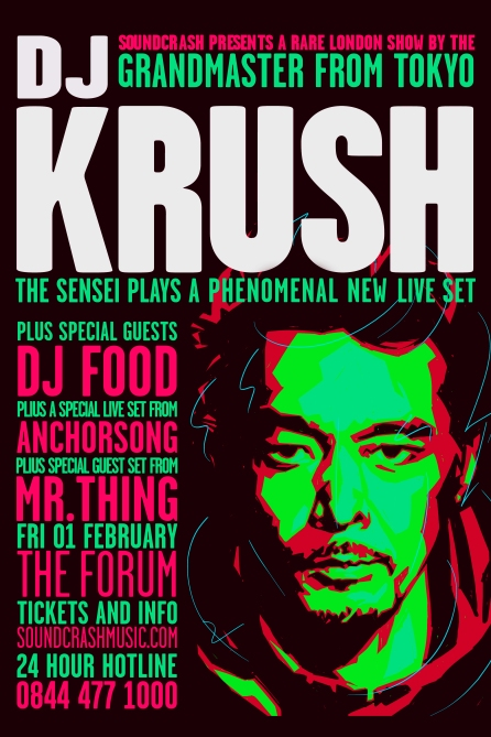 DJ Krush event flyer