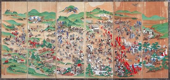 Edo period screen depicting the Battle of Sekigahara