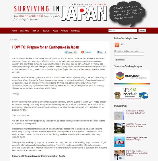 Surviving in Japan