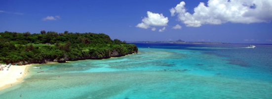 Okinawa is surrounded by an endless blue ocean
