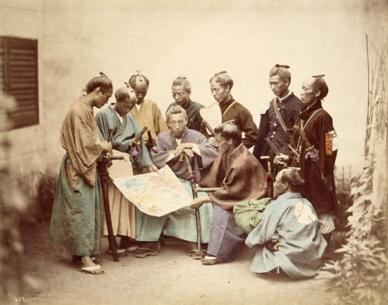 Samurai of the Satsuma clan, during the Boshin War period (1868–1869) by Felice Beato