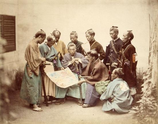 Samurai of the Satsuma clan, during the Boshin War period (1868–1869) by Felice Beato