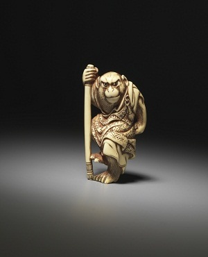 'Songoku - hero of Saiyuki' Photo: Ken Adlard  © International Netsuke Society