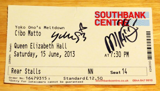 Signed Cibo Matto ticket