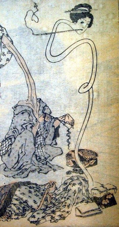 Hokusai's rokurokubi