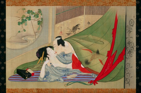 Shiki kyo-en zu (Contest of Passion in the Four Seasons) by Hosoda Eishi (late 1790s–early 1800s)