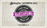 NaBloPoMo – November 2013