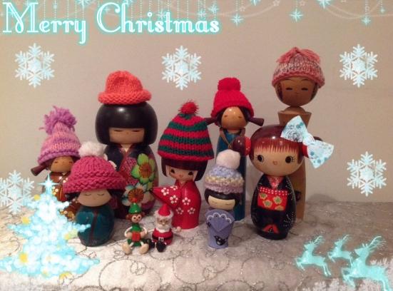 Merry Kokeshi Christmas!