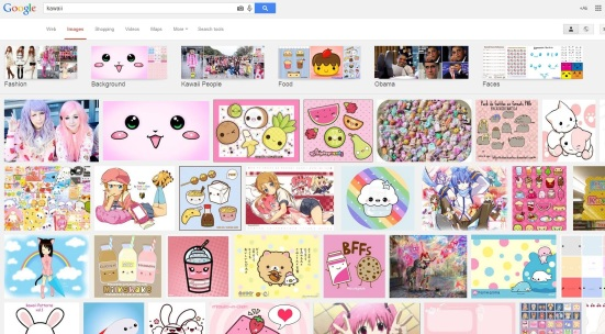 Search for 'kawaii' on Google images