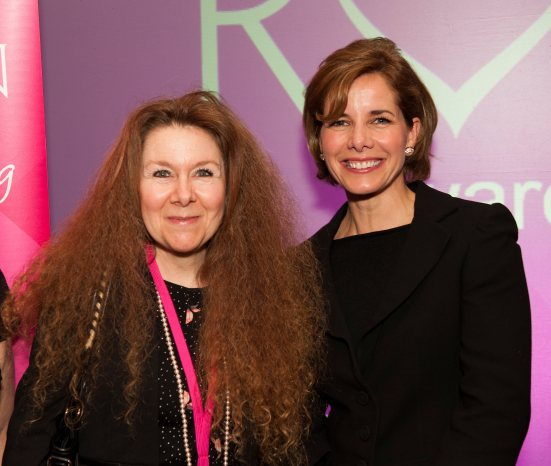 Christina Courtenay (left) and Darcey Bussell at the Romantic Novelists' Association Awards 2014