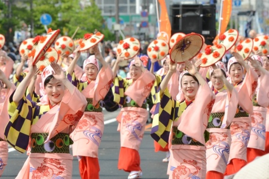 Yamagata Hanagasa dancers at Rokkonsai 2013