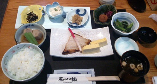 Starting the day right with a Japanese-style breakfast at the Shiba Park Hotel