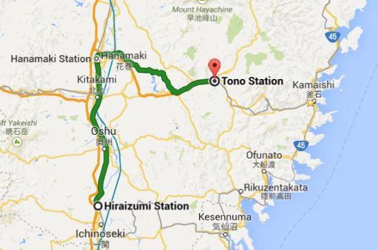 Hiraizumi to Tono