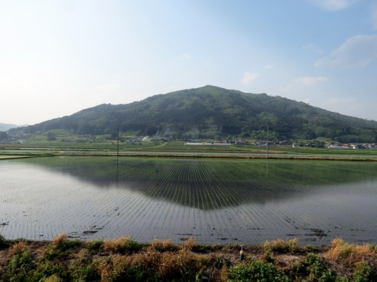 View from the train between Hanamaki and Tono on the JR Kamaishi Line