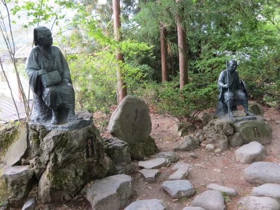 Matsuo Basho & Kawai Sora at Yamadera