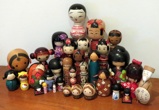 My kokeshi doll collection