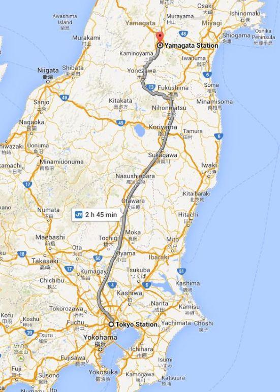 Tokyo to Yamagata