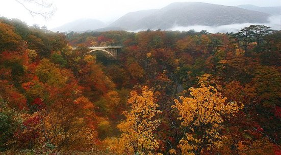 Naruko Gorge in autumn