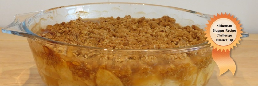 Soy Sauce Toffee Apple Crumble