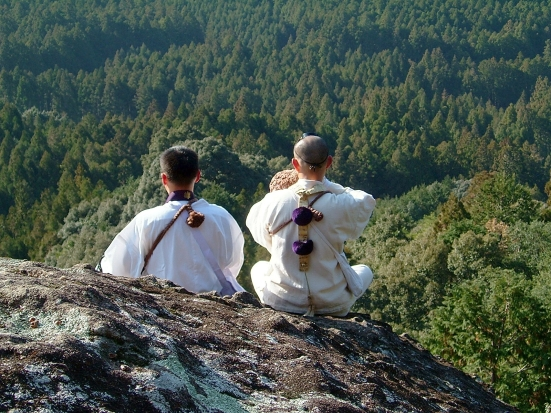 Shugendō practitioners in the mountains of Kumano, Mie