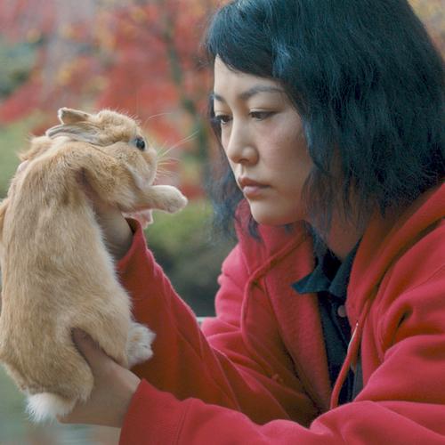 Kumiko and Bunzo the rabbit