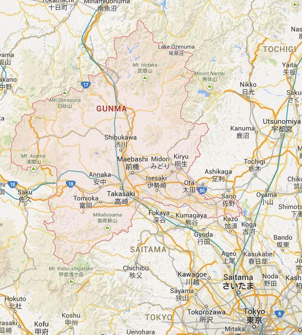 Japan By Prefecture Gunma 群馬県 Haikugirls Japan - Japan map gunma