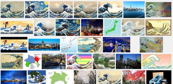 'Kanagawa' Google Images search