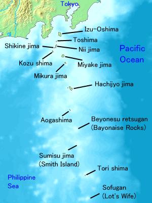 Map of the Izu Islands