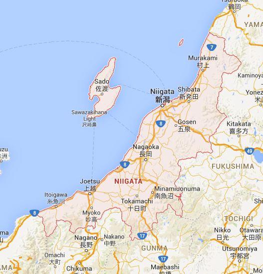 Japan By Prefecture Niigata 新潟県 Haikugirls Japan - Japan map niigata