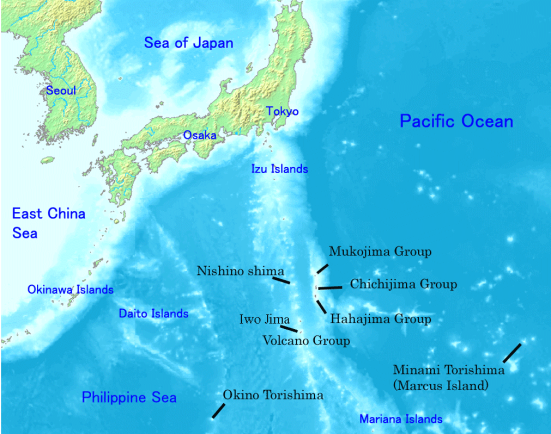 Map of the Ogasawara Islands