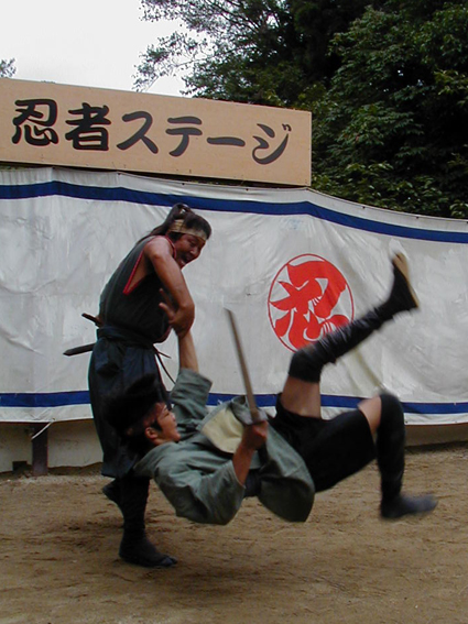 Ninja show at the Iga-ryu Ninja Museum