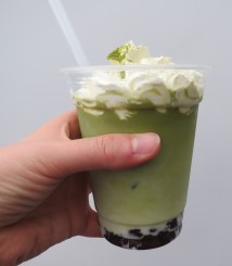 Matcha latte from Yaki