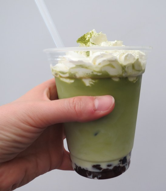 Matcha latte from Yaki