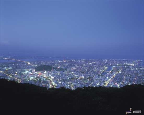 Night view from the top of Mount Bizan ©Tokushima Prefecture/©JNTO