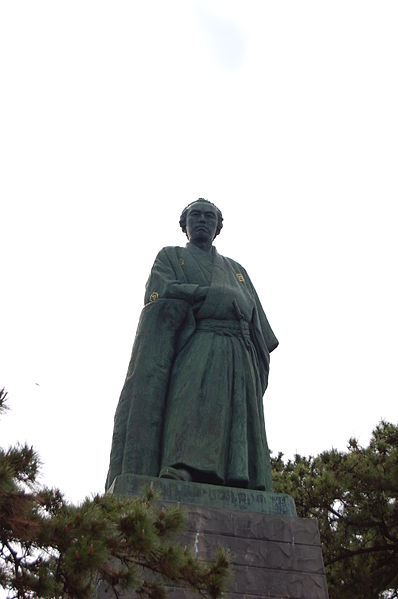 Sakamoto Ryoma statue in Katsurahama