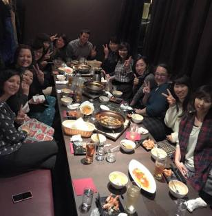 Dinner with colleagues in Nagoya