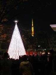 Christmas tree and Tokyo Tower