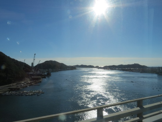 Travelling from Kobe to Tokushima by bus across Awaji Island