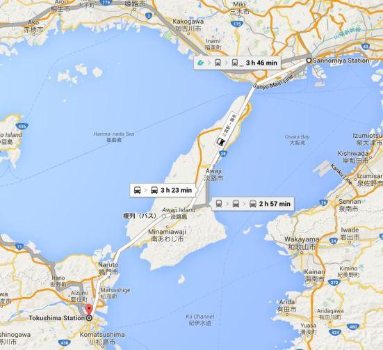 Kobe to Tokushima