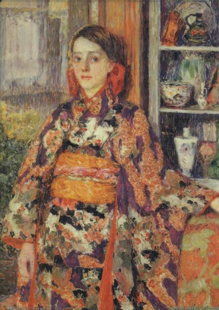 Kojima Torajiro - Belgian Girl in Kimono (1911)