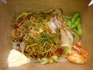 Hyper Special from OKAN - Okonomiyaki with yakisoba, edamame and kimchi