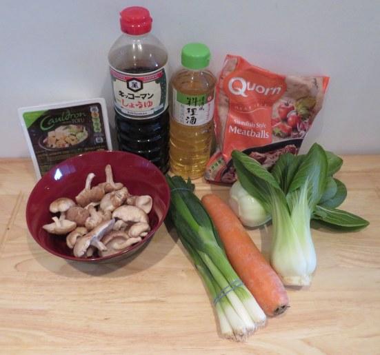 Veggie chanko nabe ingredients